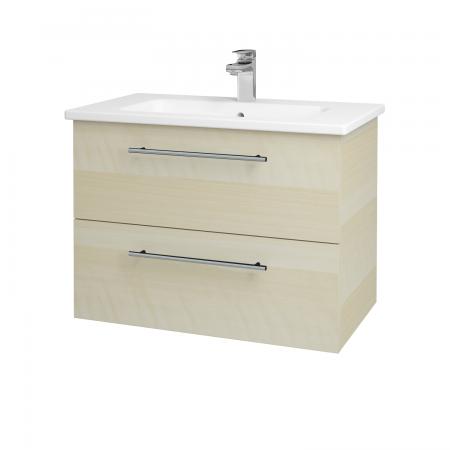 Dřevojas - Koupelnová skříň GIO SZZ2 80 - D02 Bříza / Úchytka T02 / D02 Bříza (82072B)