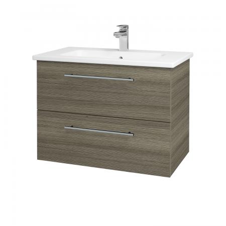 Dřevojas - Koupelnová skříň GIO SZZ2 80 - D03 Cafe / Úchytka T02 / D03 Cafe (82058B)