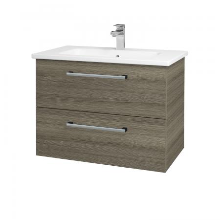 Dřevojas - Koupelnová skříň GIO SZZ2 80 - D03 Cafe / Úchytka T03 / D03 Cafe (82058C)
