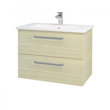 Dřevojas - Koupelnová skříň GIO SZZ2 80 - D04 Dub / Úchytka T01 / D04 Dub (82041A)