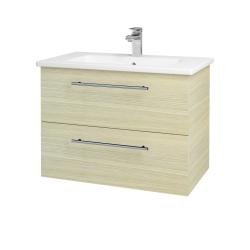Dřevojas - Koupelnová skříň GIO SZZ2 80 - D04 Dub / Úchytka T02 / D04 Dub (82041B)