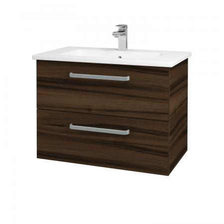 Dřevojas - Koupelnová skříň GIO SZZ2 80 - D06 Ořech / Úchytka T01 / D06 Ořech (82034A)