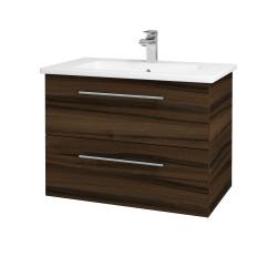 Dřevojas - Koupelnová skříň GIO SZZ2 80 - D06 Ořech / Úchytka T02 / D06 Ořech (82034B)