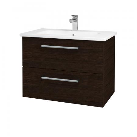 Dřevojas - Koupelnová skříň GIO SZZ2 80 - D08 Wenge / Úchytka T03 / D08 Wenge (82089C)