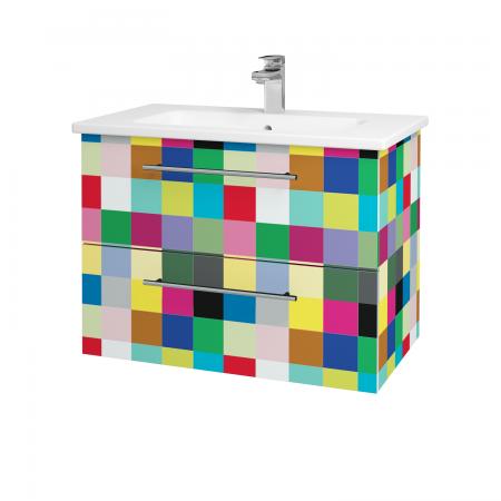 Dřevojas - Koupelnová skříň GIO SZZ2 80 - IND Individual / Úchytka T02 / IND Individual (82119B)