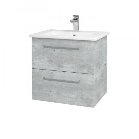 Dřevojas - Koupelnová skříň GIO SZZ2 60 - D01 Beton / Úchytka T01 / D01 Beton (82935A)