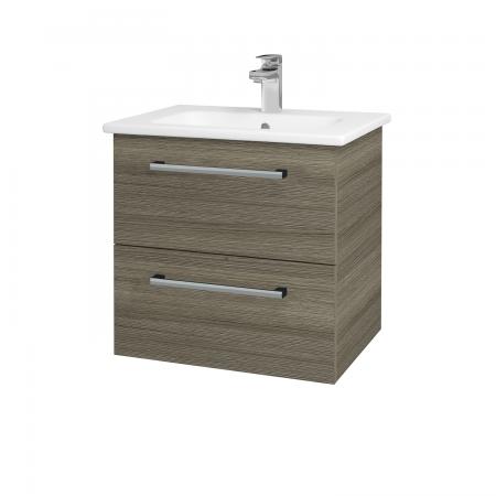 Dřevojas - Koupelnová skříň GIO SZZ2 60 - D03 Cafe / Úchytka T03 / D03 Cafe (82898C)
