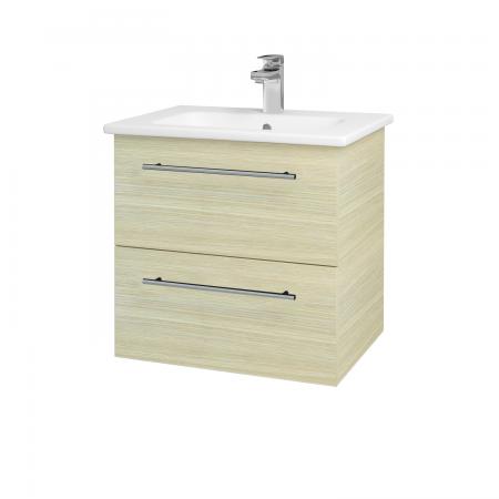 Dřevojas - Koupelnová skříň GIO SZZ2 60 - D04 Dub / Úchytka T02 / D04 Dub (82881B)