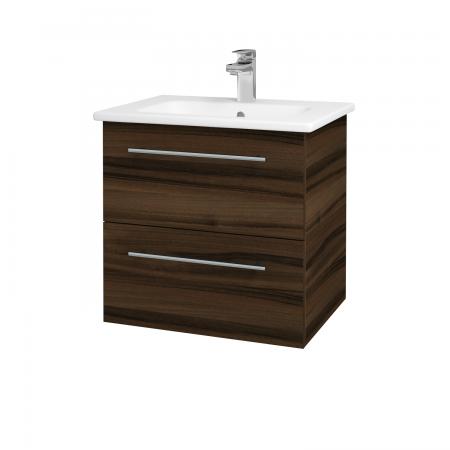 Dřevojas - Koupelnová skříň GIO SZZ2 60 - D06 Ořech / Úchytka T02 / D06 Ořech (82874B)