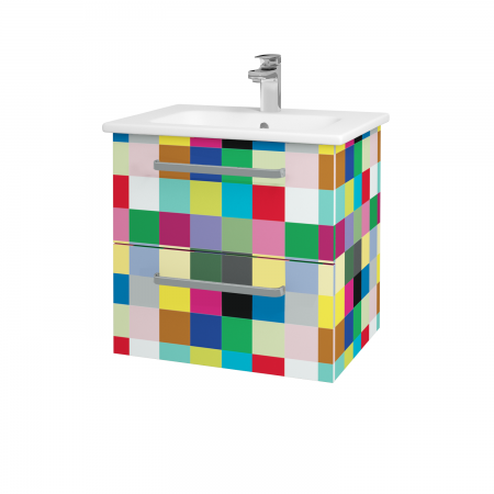 Dřevojas - Koupelnová skříň GIO SZZ2 60 - IND Individual / Úchytka T01 / IND Individual (82959A)
