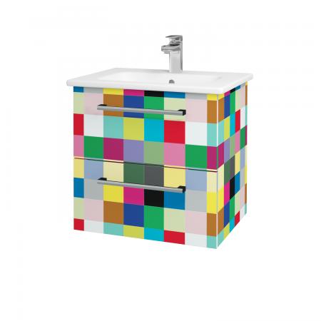 Dřevojas - Koupelnová skříň GIO SZZ2 60 - IND Individual / Úchytka T03 / IND Individual (82959C)