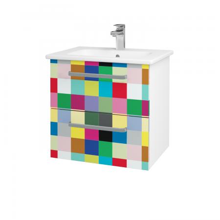 Dřevojas - Koupelnová skříň GIO SZZ2 60 - N01 Bílá lesk / Úchytka T01 / IND Individual (82867A)