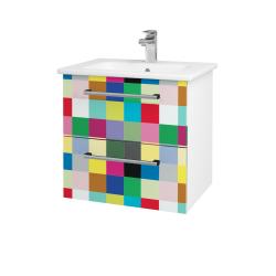 Dřevojas - Koupelnová skříň GIO SZZ2 60 - N01 Bílá lesk / Úchytka T03 / IND Individual (82867C)