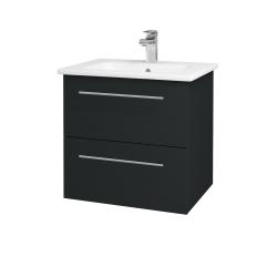 Dřevojas - Koupelnová skříň GIO SZZ2 60 - L03 Antracit vysoký lesk / Úchytka T02 / L03 Antracit vysoký lesk (82973B)
