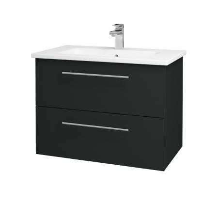 Dřevojas - Koupelnová skříň GIO SZZ2 80 - L03 Antracit vysoký lesk / Úchytka T02 / L03 Antracit vysoký lesk (82997B)