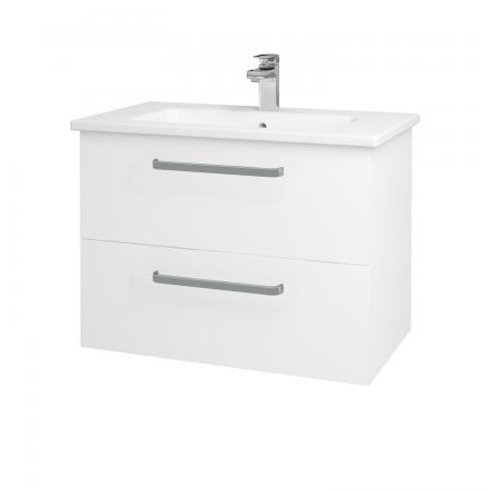 Dřevojas - Koupelnová skříň GIO SZZ2 80 - N01 Bílá lesk / Úchytka T01 / L01 Bílá vysoký lesk (81914A)