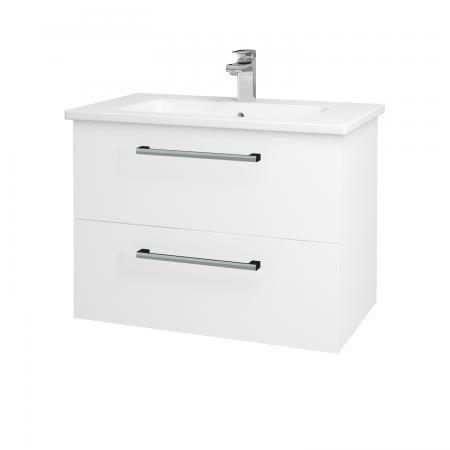 Dřevojas - Koupelnová skříň GIO SZZ2 80 - N01 Bílá lesk / Úchytka T03 / L01 Bílá vysoký lesk (81914C)