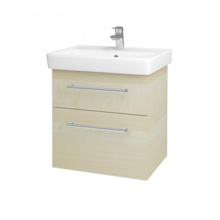 Dřevojas - Koupelnová skříň Q MAX SZZ2 60 - D02 Bříza / Úchytka T03 / D02 Bříza (60285C)