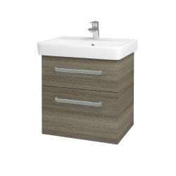 Dřevojas - Koupelnová skříň Q MAX SZZ2 60 - D03 Cafe / Úchytka T01 / D03 Cafe (68441A)
