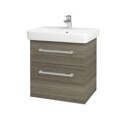 Dřevojas - Koupelnová skříň Q MAX SZZ2 60 - D03 Cafe / Úchytka T03 / D03 Cafe (68441C)