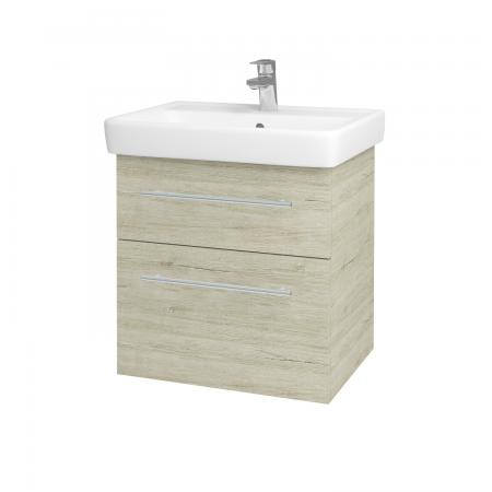 Dřevojas - Koupelnová skříň Q MAX SZZ2 60 - D05 Oregon / Úchytka T02 / D05 Oregon (61312B)