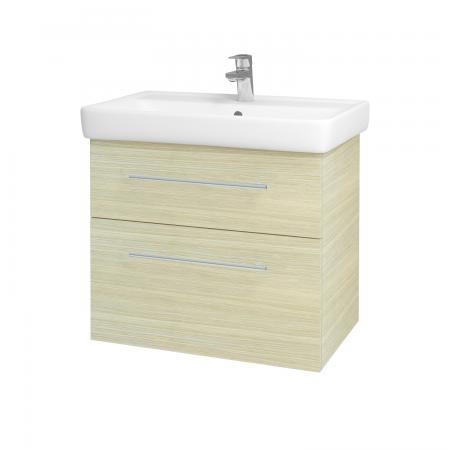 Dřevojas - Koupelnová skříň Q MAX SZZ2 70 - D04 Dub / Úchytka T02 / D04 Dub (60407B)