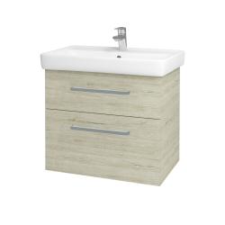 Dřevojas - Koupelnová skříň Q MAX SZZ2 70 - D05 Oregon / Úchytka T01 / D05 Oregon (61329A)