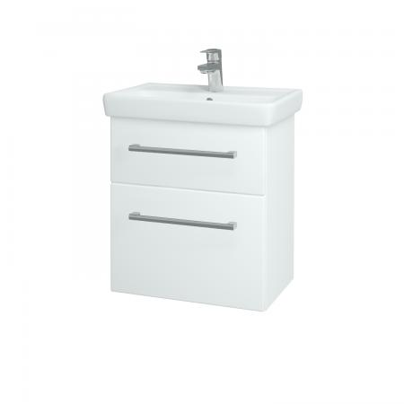 Dřevojas - Koupelnová skříň GO SZZ2 55 - N01 Bílá lesk / Úchytka T03 / L01 Bílá vysoký lesk (20722C)