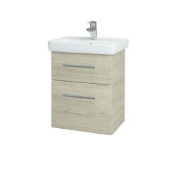 Dřevojas - Koupelnová skříň GO SZZ2 50 - D05 Oregon / Úchytka T03 / D05 Oregon (28124C)