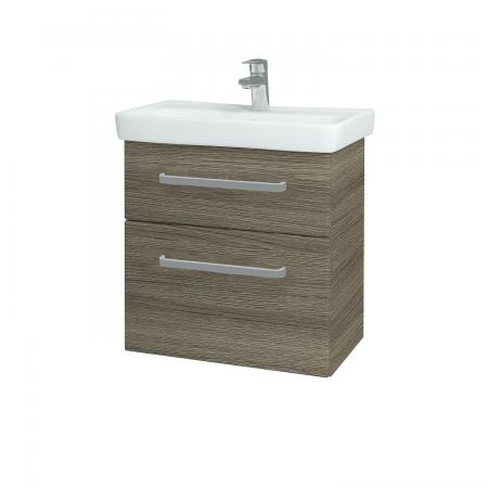 Dřevojas - Koupelnová skříň GO SZZ2 60 - D03 Cafe / Úchytka T01 / D03 Cafe (28087A)