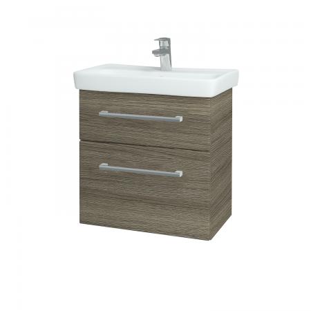 Dřevojas - Koupelnová skříň GO SZZ2 60 - D03 Cafe / Úchytka T03 / D03 Cafe (28087C)