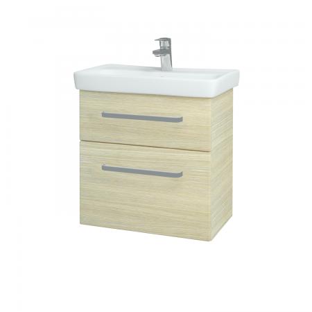 Dřevojas - Koupelnová skříň GO SZZ2 60 - D04 Dub / Úchytka T01 / D04 Dub (28117A)