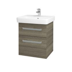 Dřevojas - Koupelnová skříň Q MAX SZZ2 55 - D03 Cafe / Úchytka T01 / D03 Cafe (68434A)