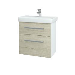 Dřevojas - Koupelnová skříň GO SZZ2 60 - N01 Bílá lesk / Úchytka T01 / D05 Oregon (27998A)