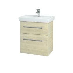 Dřevojas - Koupelnová skříň GO SZZ2 55 - D04 Dub / Úchytka T03 / D04 Dub (28100C)