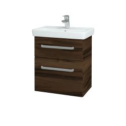 Dřevojas - Koupelnová skříň GO SZZ2 55 - D06 Ořech / Úchytka T01 / D06 Ořech (29770A)