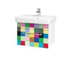 Dřevojas - Koupelnová skříň Q UNO SZZ 60 - N01 Bílá lesk / Úchytka T03 / IND Individual (20913C)
