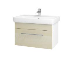 Dřevojas - Koupelnová skříň Q UNO SZZ 70 - N01 Bílá lesk / Úchytka T02 / D02 Bříza (21002B)