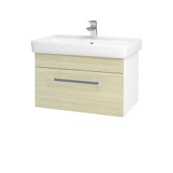 Dřevojas - Koupelnová skříň Q UNO SZZ 70 - N01 Bílá lesk / Úchytka T01 / D04 Dub (20074A)