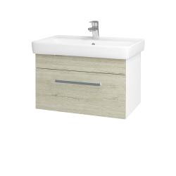 Dřevojas - Koupelnová skříň Q UNO SZZ 70 - N01 Bílá lesk / Úchytka T01 / D05 Oregon (23709A)