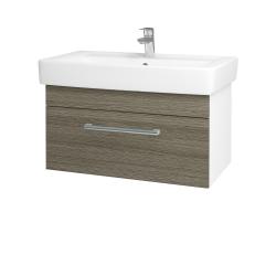 Dřevojas - Koupelnová skříň Q UNO SZZ 80 - N01 Bílá lesk / Úchytka T03 / D03 Cafe (21064C)