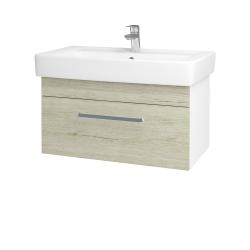 Dřevojas - Koupelnová skříň Q UNO SZZ 80 - N01 Bílá lesk / Úchytka T01 / D05 Oregon (23716A)