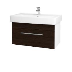 Dřevojas - Koupelnová skříň Q UNO SZZ 80 - N01 Bílá lesk / Úchytka T02 / D08 Wenge (20128B)
