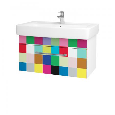 Dřevojas - Koupelnová skříň Q UNO SZZ 80 - N01 Bílá lesk / Úchytka T03 / IND Individual (20937C)