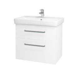 Dřevojas - Koupelnová skříň Q MAX SZZ2 70 - N01 Bílá lesk / Úchytka T01 / L01 Bílá vysoký lesk (60155A)