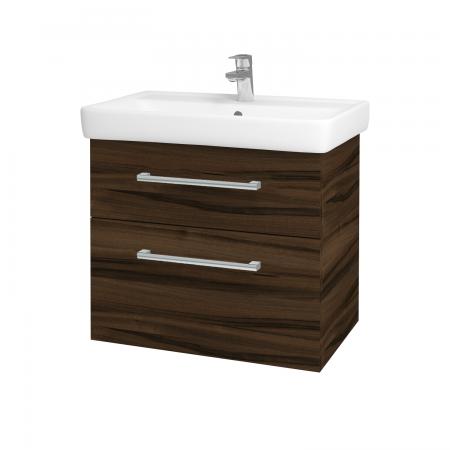 Dřevojas - Koupelnová skříň Q MAX SZZ2 70 - D06 Ořech / Úchytka T03 / D06 Ořech (60414C)
