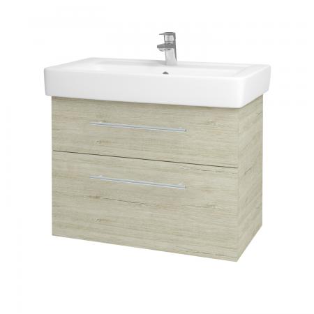 Dřevojas - Koupelnová skříň Q MAX SZZ2 80 - D05 Oregon / Úchytka T02 / D05 Oregon (61336B)
