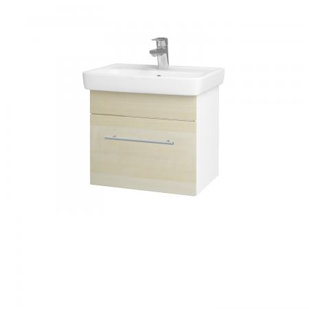 Dřevojas - Koupelnová skříň SOLO SZZ 50 - N01 Bílá lesk / Úchytka T02 / D02 Bříza (21125B)