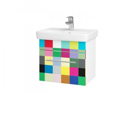 Dřevojas - Koupelnová skříň SOLO SZZ 50 - N01 Bílá lesk / Úchytka T02 / IND Individual (20944B)