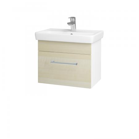 Dřevojas - Koupelnová skříň SOLO SZZ 55 - N01 Bílá lesk / Úchytka T03 / D02 Bříza (21156C)